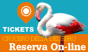 Reservas para particulares para ir en barco por el Delta del Ebro
