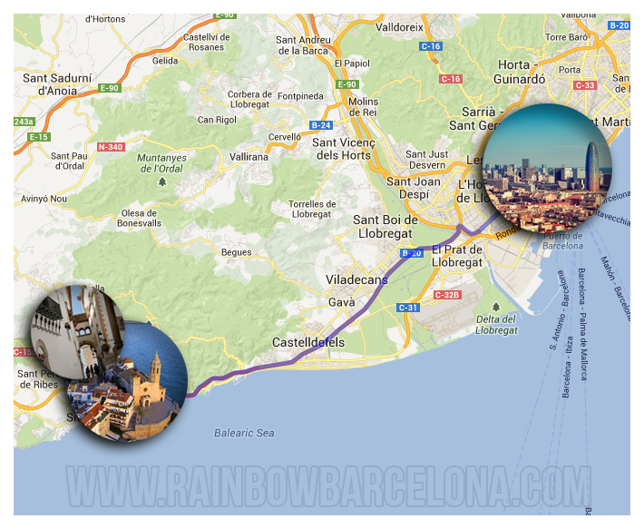 Gay Tours Barcelona Sitges Coast Line: Gay Barcelona Map At Infoasik.co